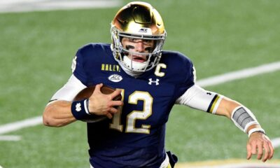 Notre dame Vs UNC, football player 12 with ball